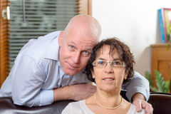 Portrait of a senior couple. In love stock photo