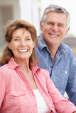 Portrait senior couple outdoors Royalty Free Stock Photo