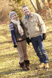 Portrait senior couple outdoors in winter Royalty Free Stock Photos