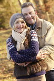 Portrait senior couple outdoors in winter Royalty Free Stock Images