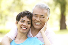 Portrait Of Senior Couple In Park Royalty Free Stock Photos