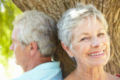 Portrait of senior couple smiling Royalty Free Stock Photography