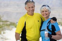 Portrait Of A Senior Couple Smiling Royalty Free Stock Photos