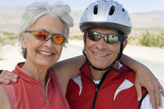 Portrait Of A Senior Couple Smiling Royalty Free Stock Photo