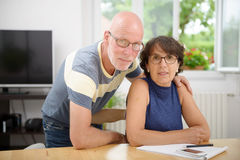 Portrait of a senior couple in their home Stock Photos