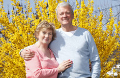 Portrait of senior couple Royalty Free Stock Images