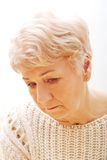 Portrait of senior depression woman Royalty Free Stock Image