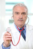 Portrait of a senior doctor Stock Photo