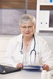 Portrait of senior doctor Royalty Free Stock Photography