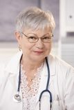 Portrait of senior doctor Royalty Free Stock Images