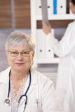 Portrait of senior doctor Stock Photography