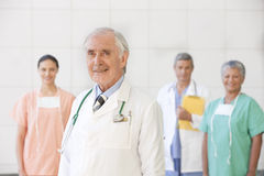 Portrait of senior doctor with staff Stock Photos