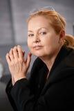 Portrait of senior executive businesswoman Stock Photos