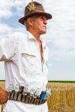 Portrait of a senior farmer. Stock Image