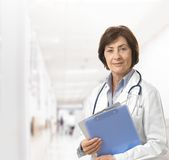 Portrait of senior female doctor Royalty Free Stock Photo