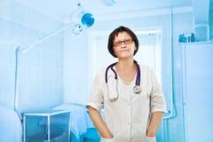 Portrait of senior female doctor Stock Images