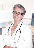 Portrait of senior female doctor Royalty Free Stock Image