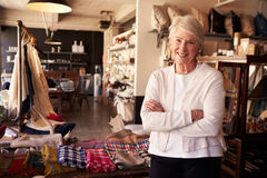 Portrait Of Senior Female Owner Of Gift Store Royalty Free Stock Photography
