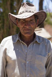 Portrait of senior gaucho with hat in Argentina Royalty Free Stock Images