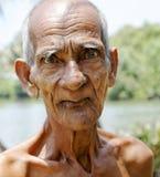 Portrait of senior indigenous man Kerala India Stock Photo