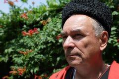 Portrait of a senior Kuban Cossack Stock Photos