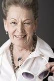 Portrait of a senior lady Royalty Free Stock Image