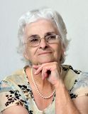 Portrait of senior lady Royalty Free Stock Images