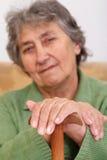 Portrait of a senior lady Stock Images