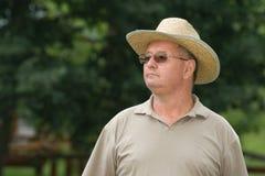 Portrait of a senior man. Outdoors Royalty Free Stock Photos