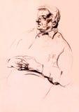 Portrait of a senior man vector illustration