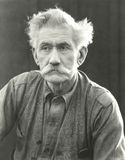 Portrait of senior man with bushy moustache Royalty Free Stock Images