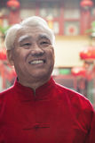 Portrait of senior man in Chinese traditional clothing Royalty Free Stock Photo