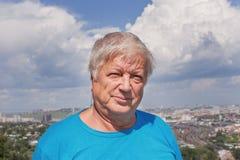 Portrait of senior man in city Stock Photo