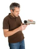 Portrait of senior man drinking coffee/tea Stock Photography