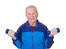 Portrait of a senior man exercising Royalty Free Stock Photography