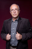 Portrait of senior man in glasses Royalty Free Stock Images