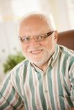 Portrait of senior man in glasses Stock Images