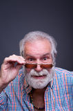 Portrait of senior man with glasses. Stock Photography