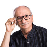 Portrait of a senior man with glasses Royalty Free Stock Photography