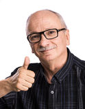 Portrait of a senior man with glasses Stock Images
