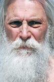 Portrait of senior man, he has mustache and beard Royalty Free Stock Photo
