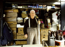 Portrait of a senior man in his shop Royalty Free Stock Photos