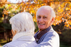 Portrait of a senior man with his wife in foreground Royalty Free Stock Photo