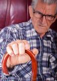 Portrait of a senior man stock photos