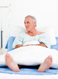 Portrait of a senior man at the hospital Royalty Free Stock Image