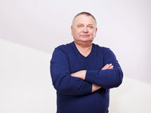 Portrait of senior man in jumper Royalty Free Stock Images