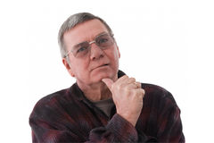 Portrait of senior man lost in thought Royalty Free Stock Photography