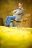 Portrait of a senior man outdoors Stock Photo