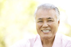 Portrait Of Senior Man In Park Stock Photography