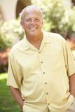 Portrait Of Senior Man In Park Stock Image